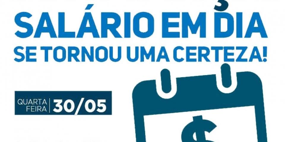 A Prefeitura de Paraú antecipa para hoje o pagamento dos salários de todos os servidores municipais efetivos e Comissionados.