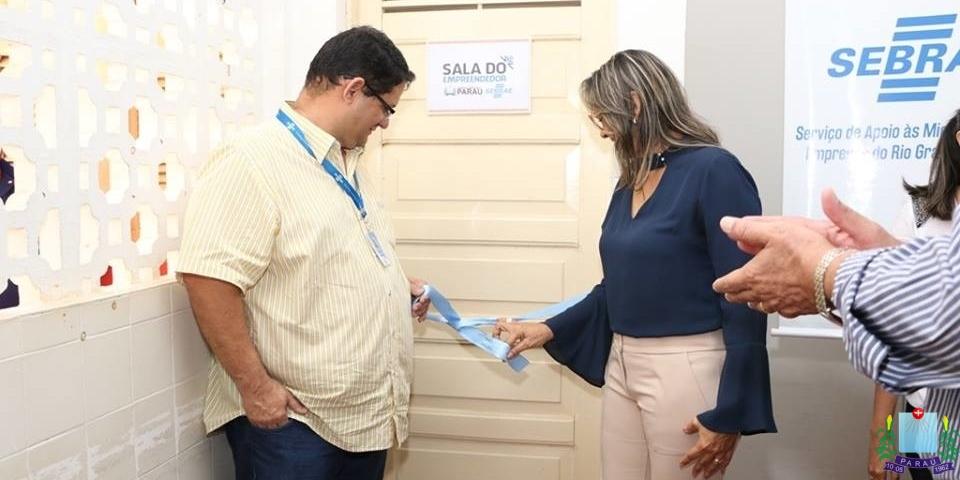 Inauguração da Sala do Empreendedor no Município de Paraú