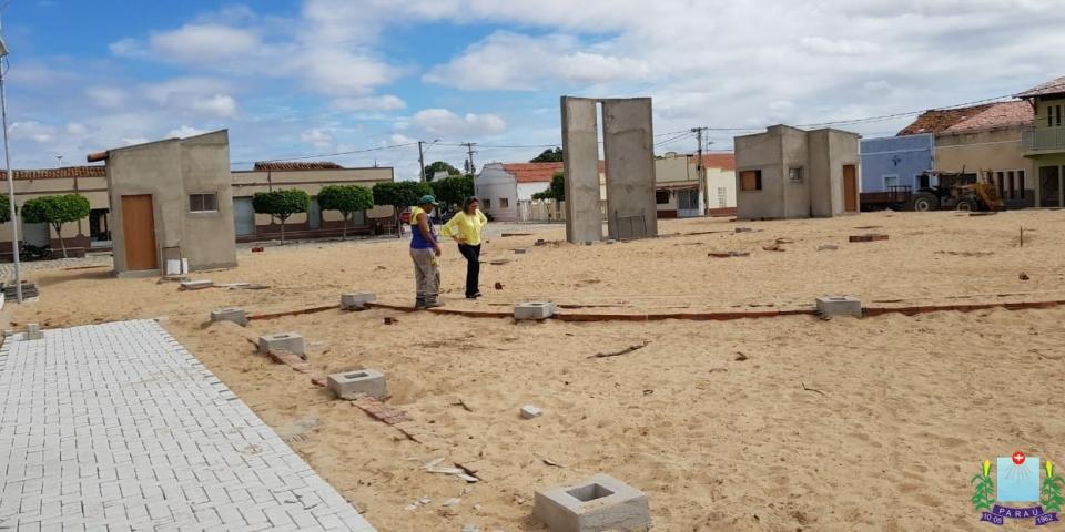 Prefeita Maria Olímpia visita obras em andamento no município.