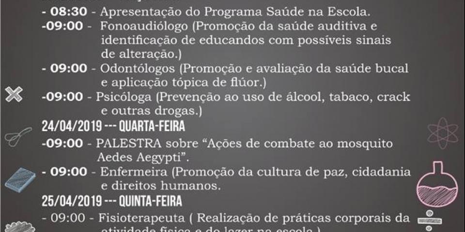 A Prefeitura de Paraú, através da Secretaria de Saúde, inicia atividades do Programa Saúde na Escola (PSE)