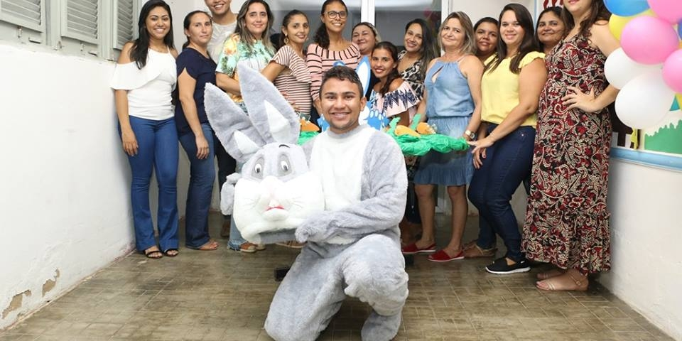 Comemoração da Páscoa no Serviço de Convivência e Fortalecimento de Vínculos (SCFV) de Paraú.
