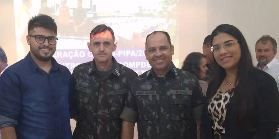 Coordenadoria de Proteção e Defesa Civil de Paraú participa de reunião no 17° Grupo de Artilharia.