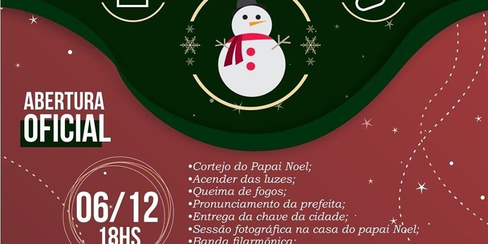 """A Prefeitura convida a população para abertura da segunda edição de """"Paraú, Um Sonho de Natal""""."""