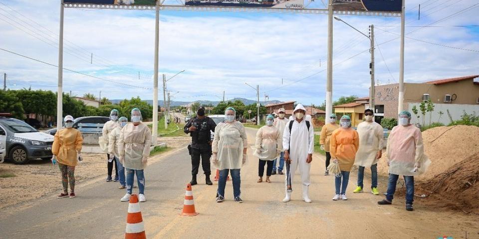 Covid19: A prefeitura realiza Barreira Sanitária na entrada da cidade.